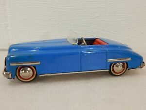Distler D-3200 Convertible Tin Wind Up Clockwork Toy Car US Zone Germany Blue