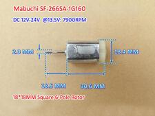 Mabuchi SF-266SA DC 12V 24V 14500RPM Mini DC Motor Square 6-Pole Rotor 18*18MM