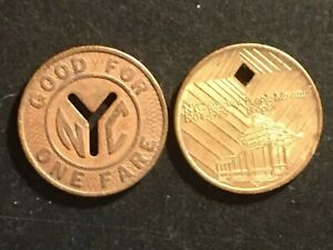 Two NYC SUBWAY Tokens - nYc and 1904-1979 Diamond Jubilee-75th Annversary Tokens