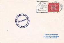 GERMAN CRUISE SHIP MS SEVEN SEAS A SHIPS CACHED COVER1964