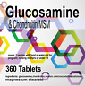 360 x Glucosamine Chondroitin MSM and Vitamin C tablets