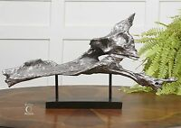 Modern Art Contemporary Fox Sculpture | Silver Black