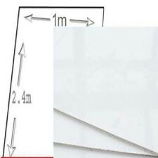 1M WIDE White Gloss pvc shower wall panels 10mm thick 2400 long