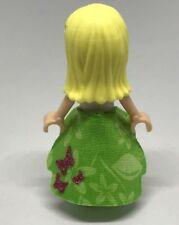 LEGO Friends MiniFigure Lot of 1 Green Magenta Vinyl GLITTER Butterfly Skirt