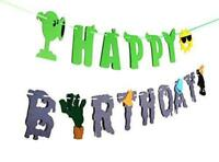 RON PT Plants VS Zombies Birthday Banner - PVZ Party Decorations - Party