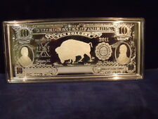 2011 Dated $10.00 Buffalo Silver Certificate 4Oz. Troy .999 Silver Series 1899