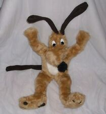 "24"" BIG VINTAGE HAAN CRAFTS HANDMADE BROWN TAN MOOSE STUFFED ANIMAL PLUSH TOY"