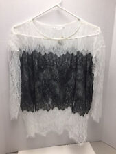 Bailey 44 Women's Lace Top - Black & White Sheer - NEW with Tag!