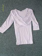womens clothes george pale purple top wrap design size 14