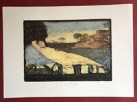 Strawalde, Schlummernde Venus, Farboffsetdruck, 1997, handsigniert