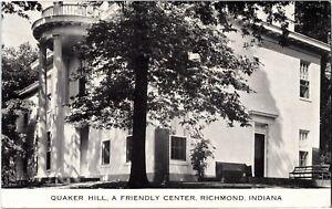 Quaker Hill, A Friendly Center, Richmond IN c1943 Vintage Postcard B72
