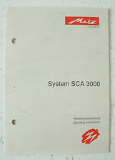 Metz-sistema SCA 3000-Manuale di Istruzioni Instructions-b2461