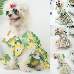 New Pet Clothes Flower Small Dog Cat Dress Cute Princess Chihuahua Puppy Skirt