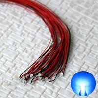 S1148 - 10 Stück SMD Blink LEDs 0805 blau blinkend mit Kabel Microlitze