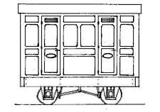 Freelance Panelled 4-Wheel 1st Cl. 2 Comp. Coach (OO9) Dundas DM76 - F1