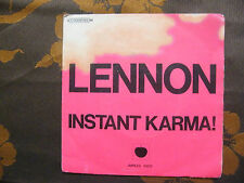 "SP JOHN LENNON ""Instant Karma!"" APPLES 1003 - 2C 006-91.149 BIEM France   (1970)"