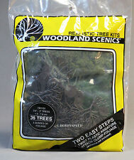 "WOODLAND SCENICS 36 TREES 3 SHADES FOLIAGE 3/4 to 3"" o gauge train land WDS 1101"