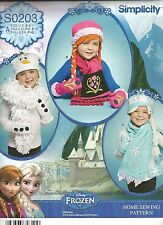 Frozen Child's Hats, Mittens & Scarves PATTERN~S0203~Olaf, Elsa, Anna