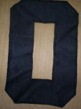 Vintage 80's black Soccer football hockey jersey number 0 zero nol kosong telor