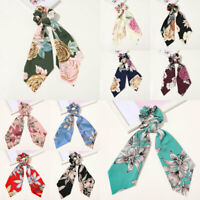 Ribbon Hair Band Floral Bow Scrunchie Hair Bow Ties Ponytail Scarf Hair Rope New
