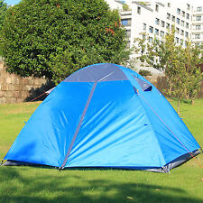 Gazelle 3 Person Camping Hiking Double Layers Tent w/ Rainfly Aluminum Poles