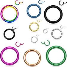 Hinged Septum Clicker Segment Nose Ring Lip Ear Cartilage Daith 18G,16G,14G- ONE