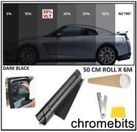 Pro Coche Oficina Tintado Ventana Film Tinte KIT DARK Humo Negro 20% 6m x 50cm