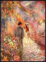 Wedding Fantasy -Chart Counted Cross Stitch Pattern Needlework Xstitch craft DIY