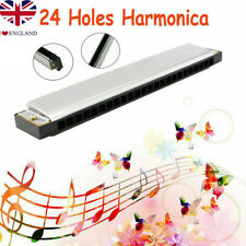 More details for professional 24 hole harmonica key c mouth organ musical instruments beginners