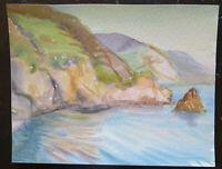 Klein Malerei Derartige Aquarell Oper der Maler G.Pancaldi Landschaft Marina P14