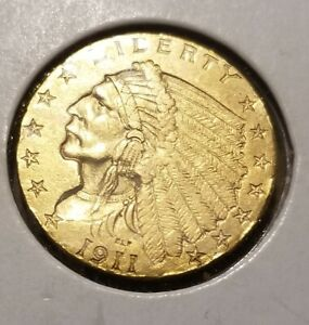 1911 US $2.50 Gold Indian