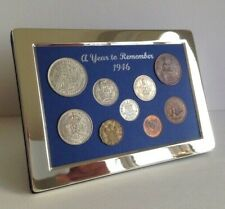 More details for 75th birthday gift - a superb 1946 silver framed coin year set - gift boxed