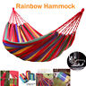 Portable Outdoor Rope Hammock Hanging Swing Camping Bed Beach Travel Carry Bed