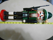 "15"" Inch Nutcracker Christmas Ranger Hunter Green Rifle Binoculars Soldier Beard"
