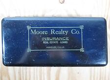 Vintage Petty Cash Metal Box Berkeley California Real Estate Business 11x5x2 in.
