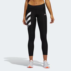 adidas Womens Training Own The Run 3-Stripes Fast Leggings black