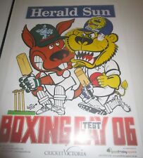 2006 Boxing Day Test Match : Australia v England : Official Weg Poster