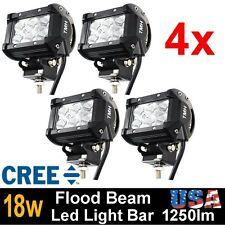 4x 4inch 18W CREE LED WORK LIGHT BAR FLOOD offroad 4X4 ATV car truck tractor 27W