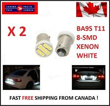 2X BA9S T11 1206 8SMD T4W H6W Led License Plate Map Dome LED Light Xenon Short