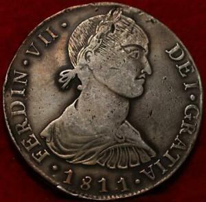 1811 Peru Imaginary Bust Ferdin VII 8 Reales Silver Foreign Coin