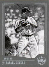2018 Panini Diamond Kings Black & White Gray Frame #104 Rafael Devers RC 96/99
