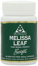 Bio Health 450 mg Melissa Leaf 60 Capsules (Pack of 4)