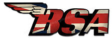 "BSA UNION JACK DIGITALLY CUT OUT VINYL STICKER. 6"" X 2"" OVERALL SIZE"