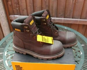 Mens DeWalt Houston Brown Steel Toe Safety Boots UK 9 New In Original Box