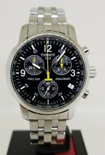 TISSOT PRC200 T461 Swiss Made Chronograph Quartz Watch Stainless Steel $525