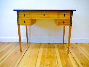 Biedermeier Schreibtisch Kirschbaum freistehend  um 1900 restauriert