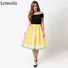 WOMEN'S FASHION XMAS GIFT PLEATED  HIGH WAIST A-LINE SKIRT SIZE L ZIP PARTY