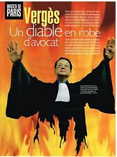 Coupure de presse Clipping 1998 (3 pages) Avocat Maitre Vergès