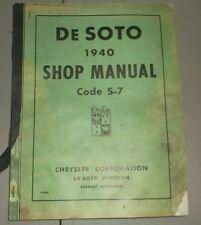 1940 De Soto Maintenance Shop Manual S7