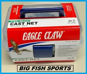 3' EAGLE CLAW NON-LEAD Bait Fish Casting Net NEW! #10010-003 FREE USA SHIPPING!